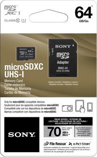 Cartão Sony Ultra Hd 64gb 70mb/s Micro Sdxc Classe 10 4k