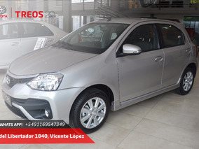 Plan Toyota Etios 1.5 Sedan X, Xls 5 P
