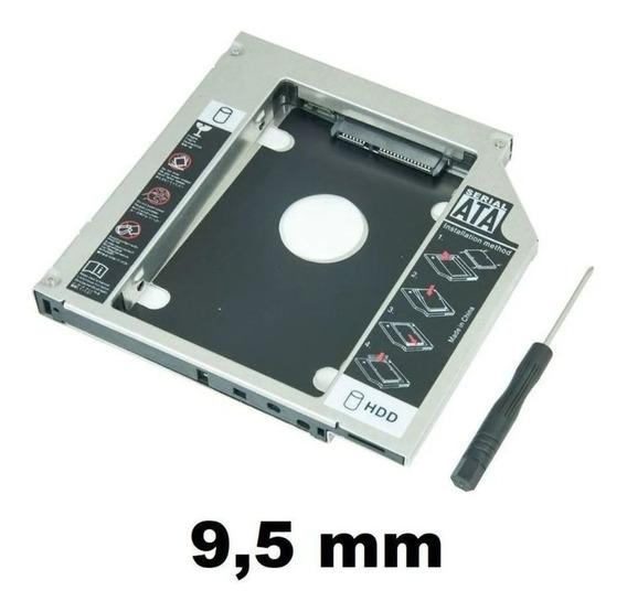 Adaptador P/ Hd Ou Ssd Sata Notebook Drive Caddy 9,5mm