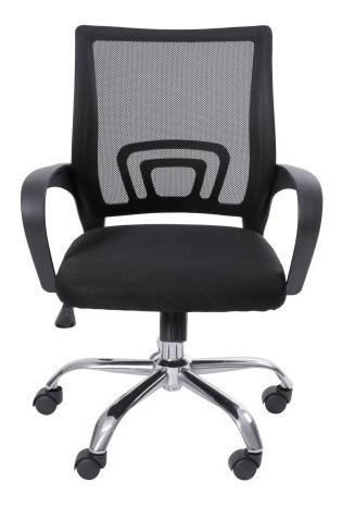2 Cadeiras Office Or3310 Baixa Tela Preta - Or Design