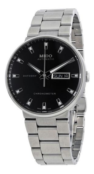 Relogio Mido M0214311103100 Commander Ii Prata Automatico