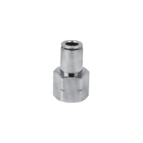 Conexão Metálica Reta Fêmea 1/4 X 10mm Bsp - Kit 10 Pçs