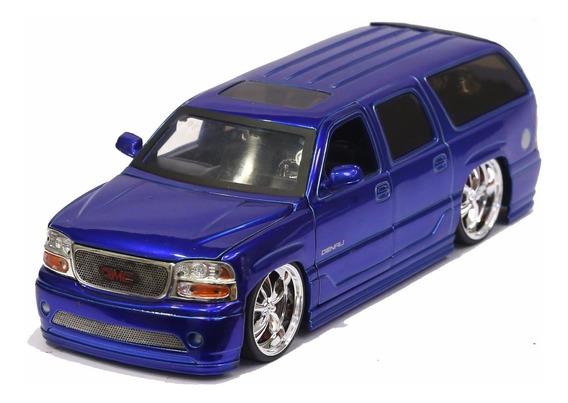 Miniatura Gmc Yukon Denali 2002 Custom Azul Jada 1/24