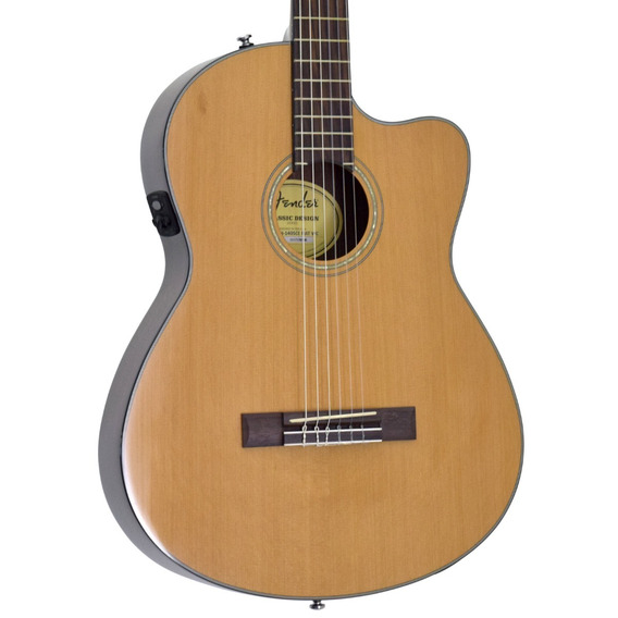 Violão Fender Nylon Cn 140 Thinline Com Case Regulado!