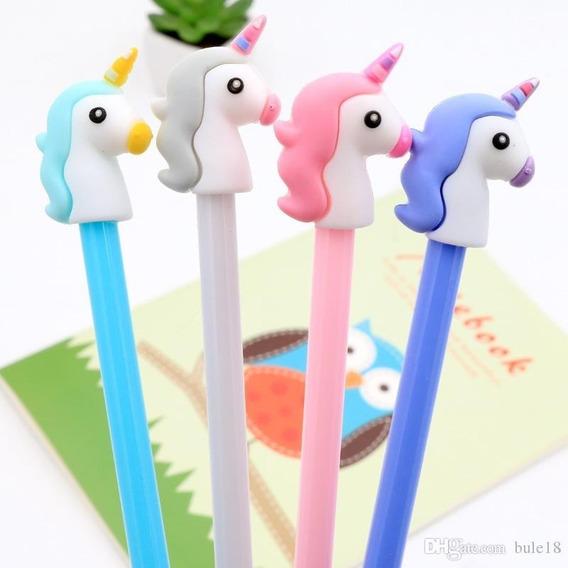 12 Lapices Unicornio Lapiz Kawaii Tinta Gel