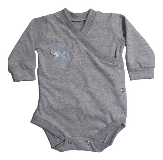 Body Kimono Para Bebê / Bory Transpassado