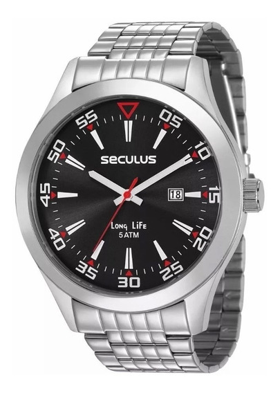 Relógio Seculus Masculino Analógico Prata 23646g0svna1
