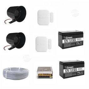 Sirene 120 Dbi Preta + Bateria E Acessorios