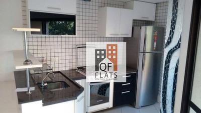 Flat Com 1 Dormitório Para Alugar, 58 M² Por R$ 1.700/mês - Jardim Ampliação - São Paulo/sp - Fl1608