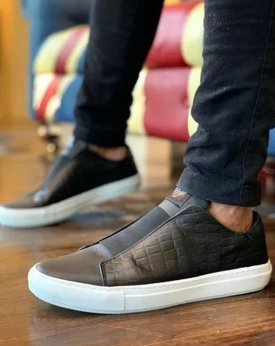 Tênis Slip On Lançamento Armani Jeans Promoção Frete Grátis