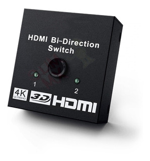 Switch Hdmi 1080p 4k 2 En 1 Bidireccional Conmutador
