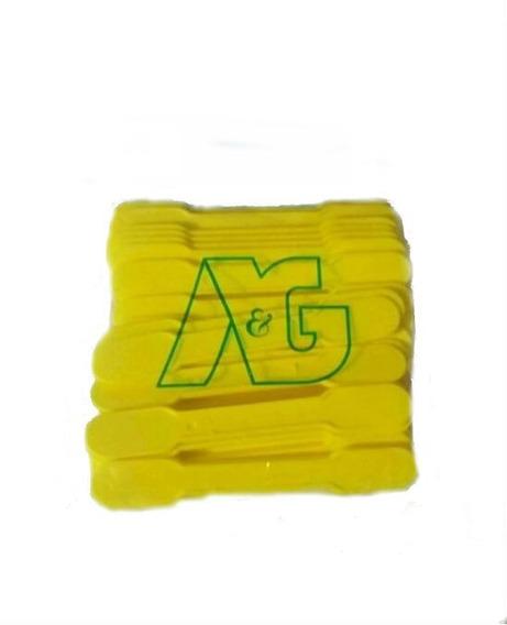 Abaixador Lingua Plastico Amarelo Com 40
