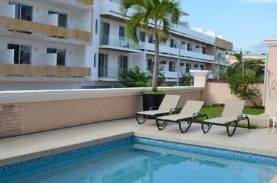 Depto Av 10 2 Rec 1,5 Baños Amueblado Centro Playa Del Carmen P2592
