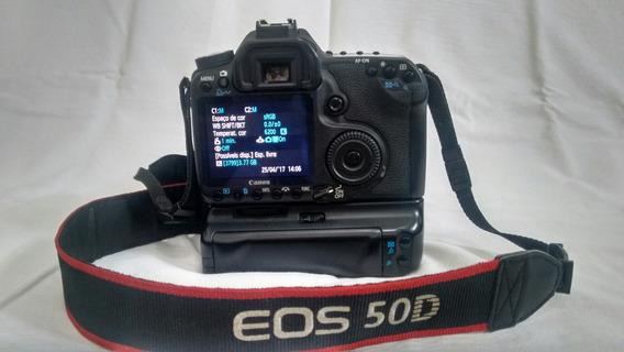 Câmera Canon Eos 50d Com Grip Completa Bolsa