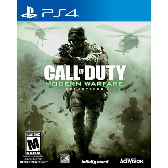 Jogo Mídia Física Call Of Duty Modern Warfare Remastered Ps4