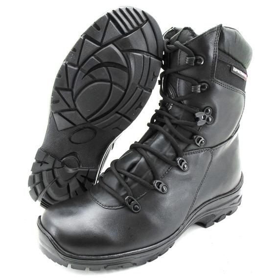 Coturno Bota Atron Shoes 280 Em Couro Militar Moto Bope Top