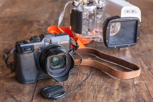 Kit Canon G1x - Caixa Estanque Mergulho + Acessórios