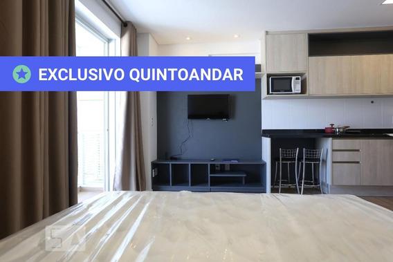 Studio No 34º Andar Mobiliado Com 1 Dormitório E 1 Garagem - Id: 892908936 - 208936