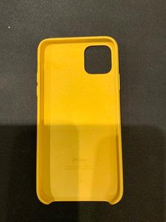 Funda Cuero Apple Original iPhone 11 Pro Max Amarila Impec