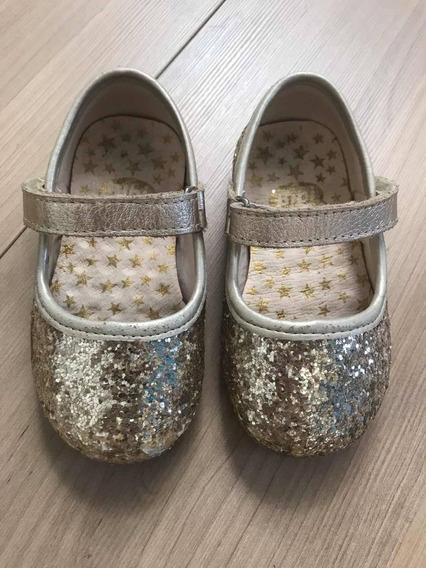 Sapatilha Glitter Bibi Tamanho 21