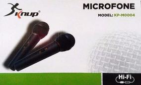 Microfone Com Fio Multimidia Kp-m0004 Knup Profissional Novo