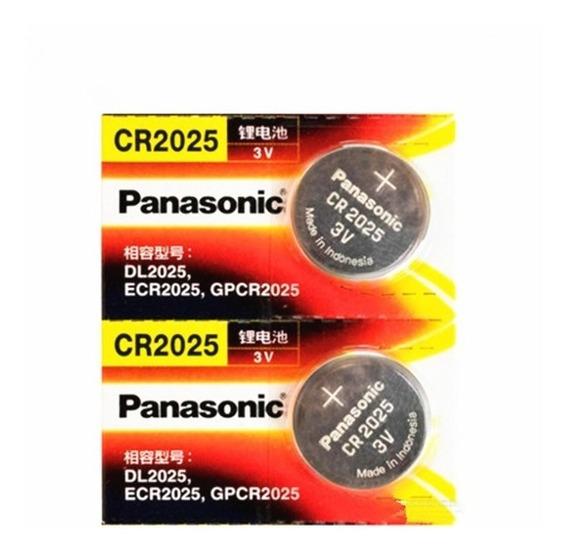 Bateria Panasonic 3v Cr2025 Produto Original Com 5 Unidades