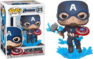 Funko Pop! Marvel #573 Endgame Capt America Mjolnir Nortoys
