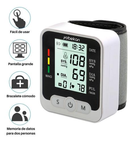 Baumanómetro De Muñeca Monitor De Presión Arterial Yobekan
