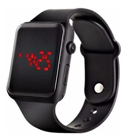 Relógio De Pulso Digital Led Masculino Feminino Hora Data