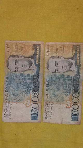 2 Notas 100000 Mil Cruzeiro