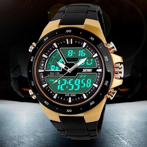 Relógio Masculino Super Estiloso Digital Analógico Promoção