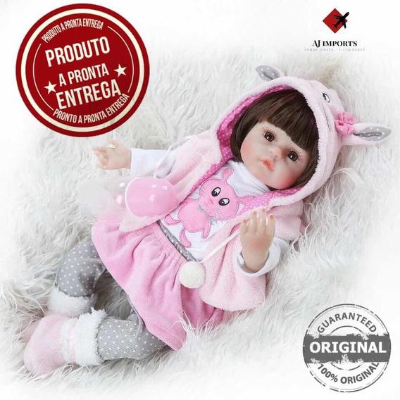 Promoção - Boneca Bebê Reborn 48cm + Acessórios