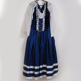 Roupa P/ Estudio Fotog-lindo Vestido Azul E Branco
