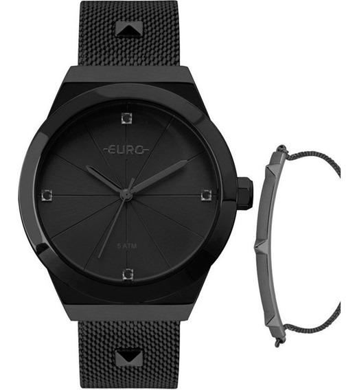 Relógio Euro Unique Feminino Preto Eu2035yrg/k4p Pronta Entr