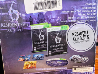 Juego Resident Evil 6 Archives Xbox 360 Y Pelicula Cd Fisico