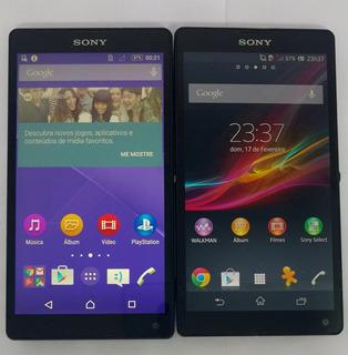 Smartphone Sony Xperia C6503 Zq Preto Original Semi Novo
