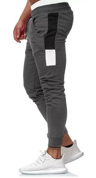 Pantalon Combinado Hombre Jogging Babucha Moda Frisa