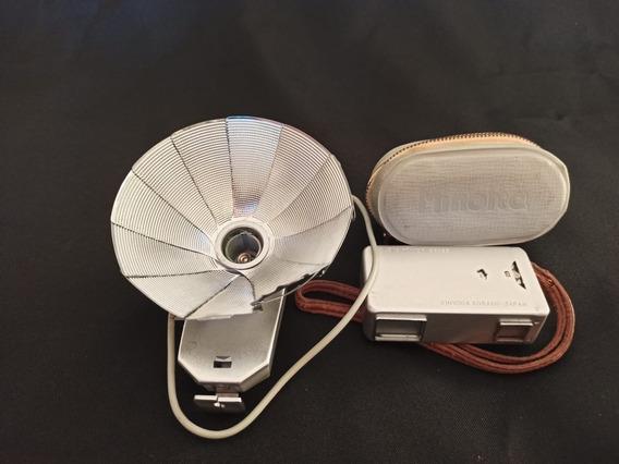 Camera Minolta 16, 16mm, Vintage + Flash Com Case