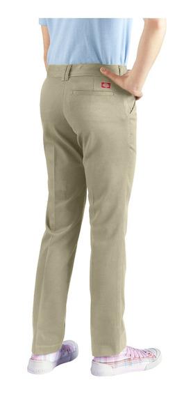 Pantalon Dickies Dama Con Bolsa Adelante Y Atrás Color Beige