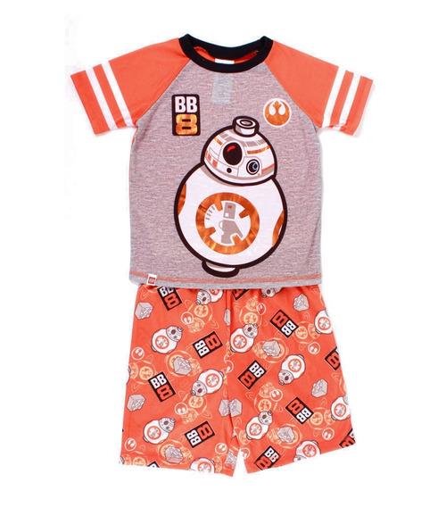 Pijama Lego Para Niño De Star Wars Droid Bb8 Naranja Y Gris