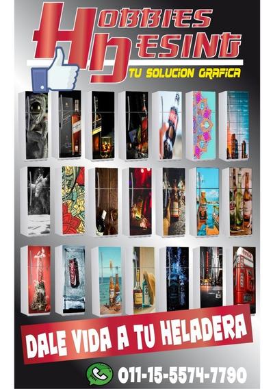 Vinilo Decorativo Heladeras Premium-diseños Personalizados!!