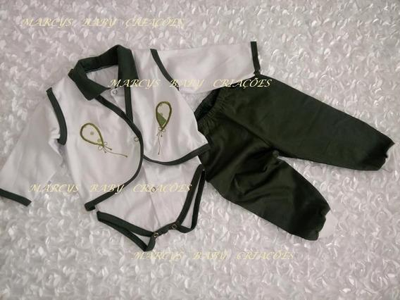 Pagão Bebê 3 Peças Body+colete+calça Menino E Menina