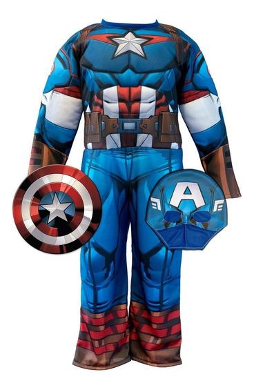 Disfraz Con Musculos Capitan America Newtoys Mundo Manias