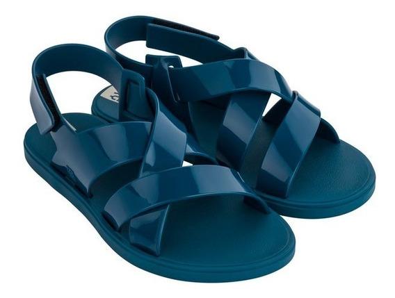 Sándalia Zaxy Go Sand Ad- Preto- Azul- Nude 17812.