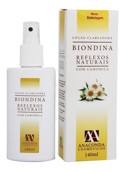 Spray Clareador Reflexos Naturais Biondina 140ml Anaconda