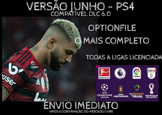 Option File Pes20 Ps4 - Dlc 4.0 22 Fevereiro 2020 100%