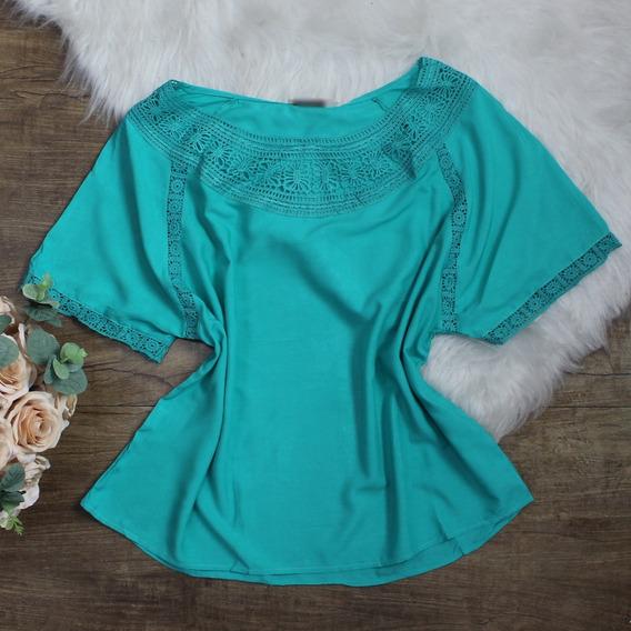 Blusa Branca Plus Size Feminina Social Viscose Barata 2526
