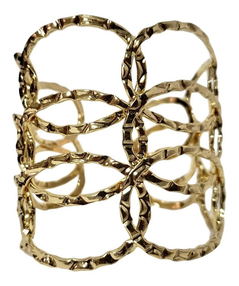 Pulseira Bracelete Feminino Largo Cor Dourada Escrava Ana