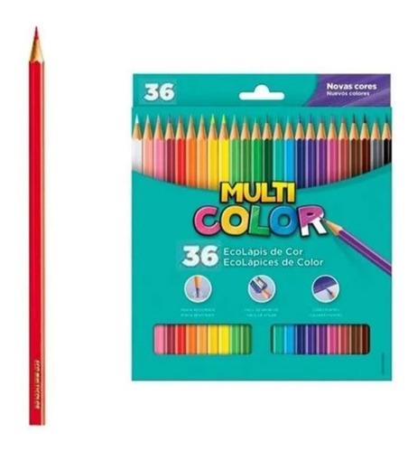 Lapis 36 Cores Multicolor Faber Castell