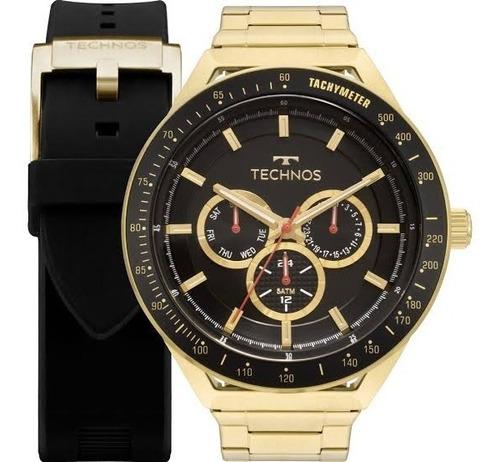 Relógio Technos Performance+pulceira De Silicone 6p29aka T2p